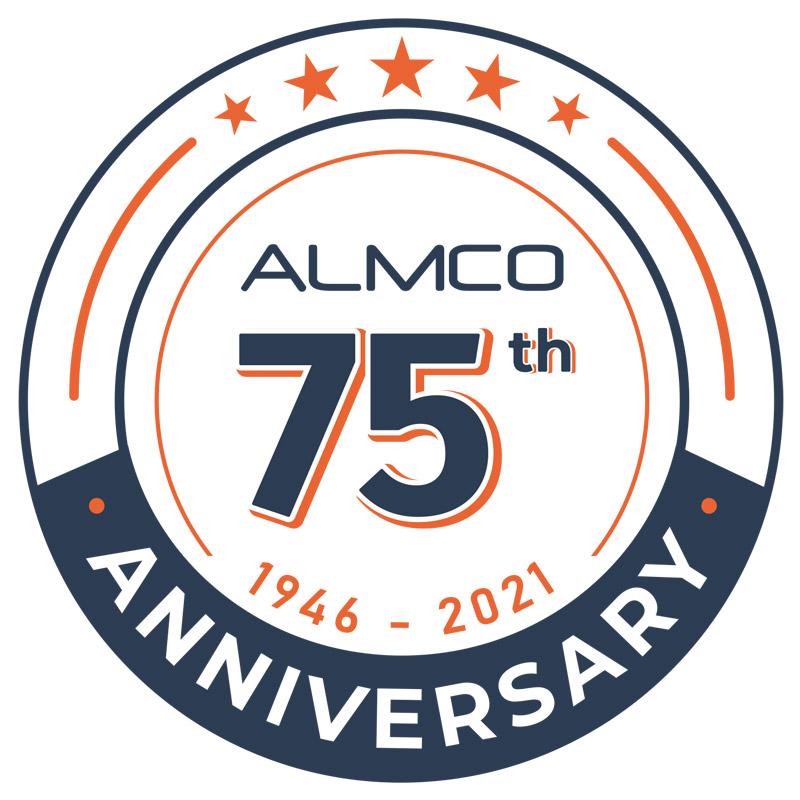 Almco's 75th Anniversary Logo